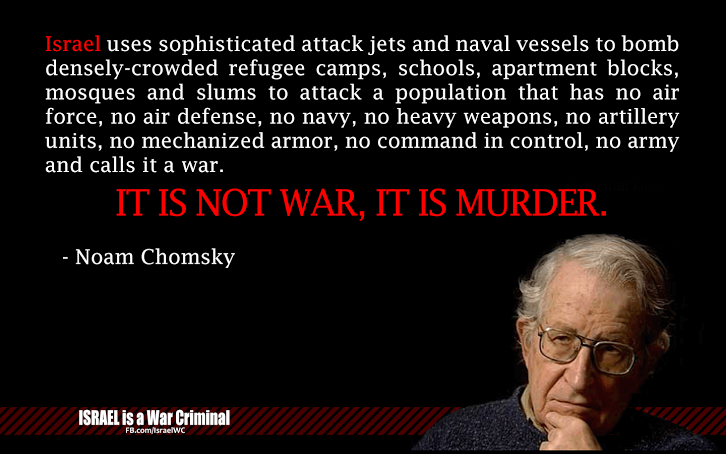 noam chomsky on zionists atacks on palestinians