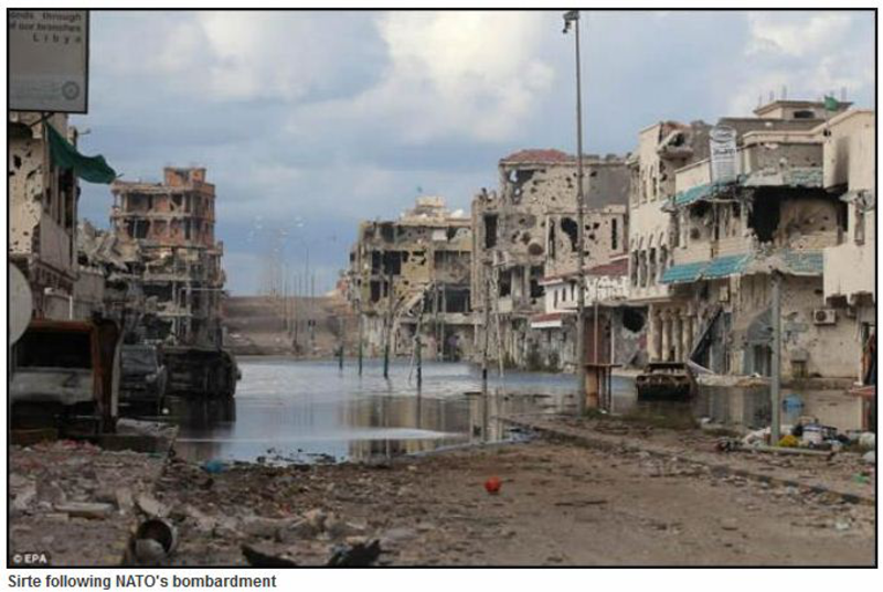 sirte after nato bombardment