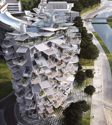 Incredible white apartment block to be built in the French Mediterranean. wOw
