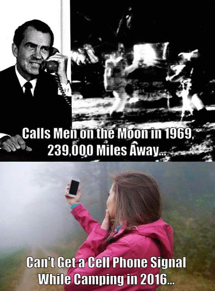 can call moon in 1969