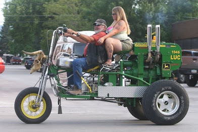 man tractor and wife