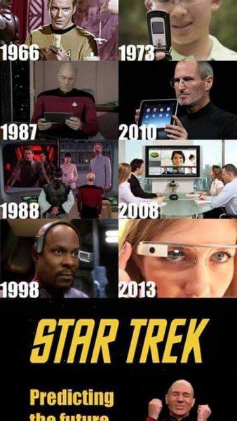 startrek predicting the future