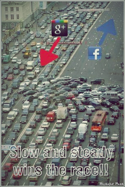 G+ Slow and steady