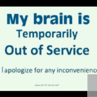 brain temporarily out of service