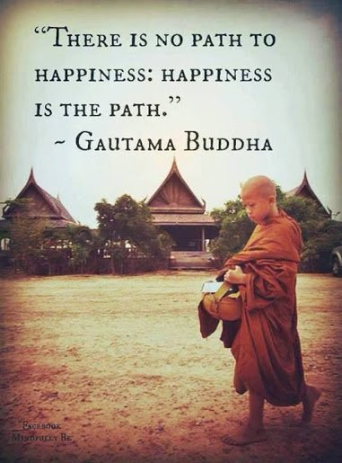 buddha happiness is the path