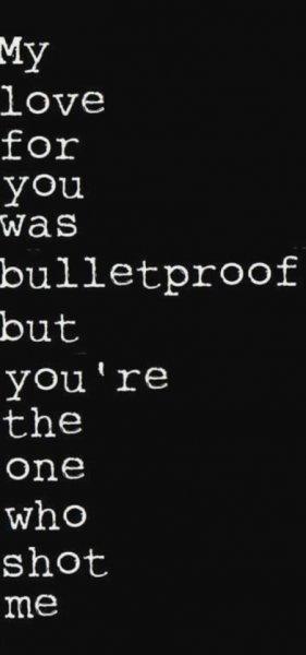 bulletproofed love