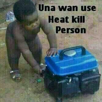 child putting generator off