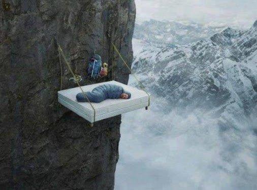 cliff sleeping