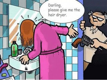 darling give me the hairdryer