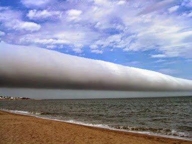 A roll cloud over Uruguay