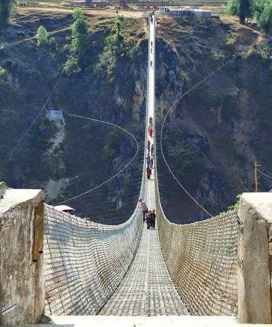 Kushma - Gyadi Suspension Bridge (2nd longest suspension bridge in Nepal