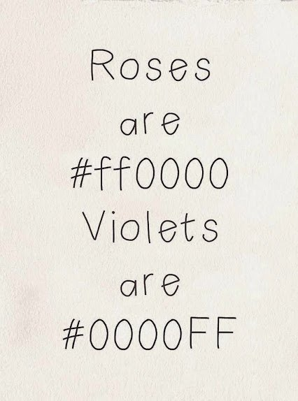 codes for roses and violet