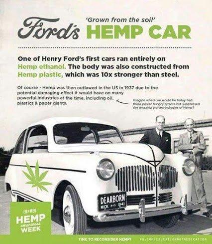 first car was made of hemp