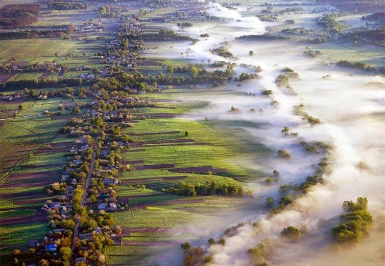 fog over fields, ukraine by volodymyr zinchenko