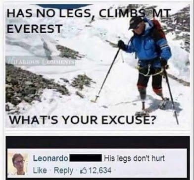 no leg climb everest