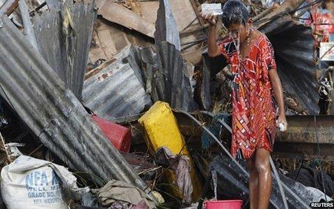 philipine typhoon victim