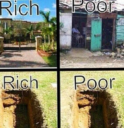rich and poor ends same way