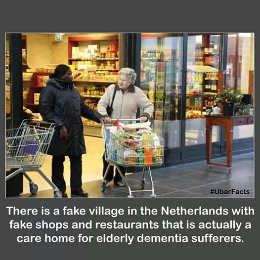 shopping mall for dementia patients in the netherlands