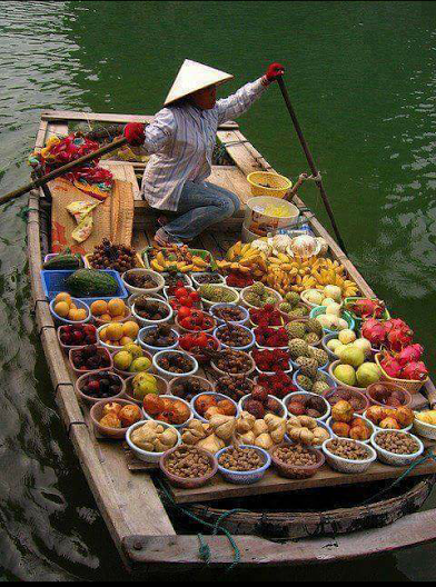 trader on a barge