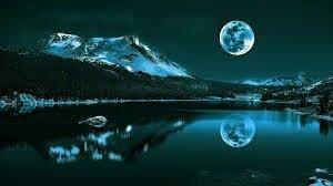 wonderful moon reflection