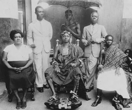 Amy Ashwood, Garvey's first wife, continued to work for her Back-to-Africa ideals. She is shown here in Ghana in the 1940s. She was a cofounder of the Nigerian Progress Union