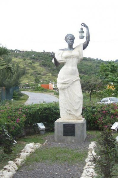 The very first Statue of Liberty, made and given by France, was turned down by the US. This is Black Lady Liberty, in St. Martin, also made by the French.