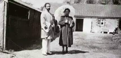 haile sellasie and wife