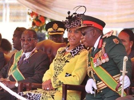 mugabe and wife and army chief