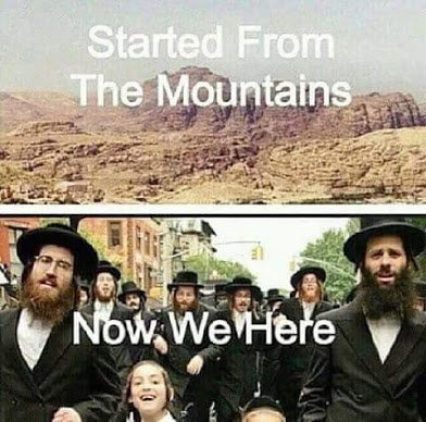 started from the mountain