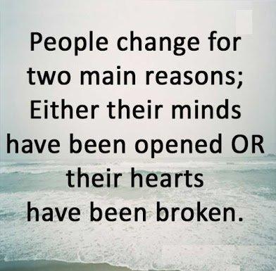 2 reasons people change