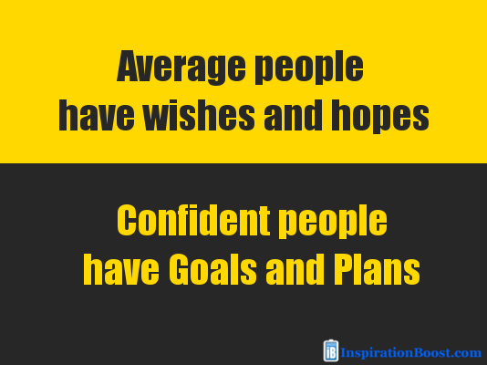 confident people have goals