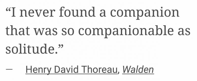 david thoreau on solitude