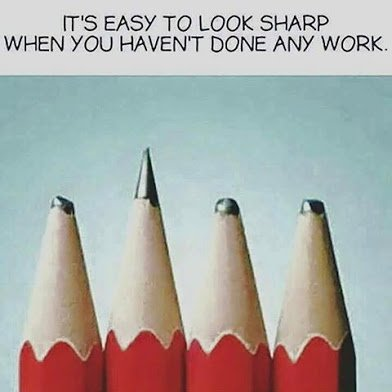 easy to look sharp when you havent done anything
