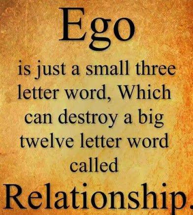 ego versus relationship