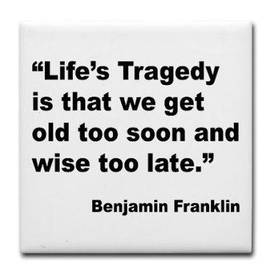 franklin on life's tragedy