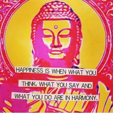 happiness mean harmony with thoughts and actions