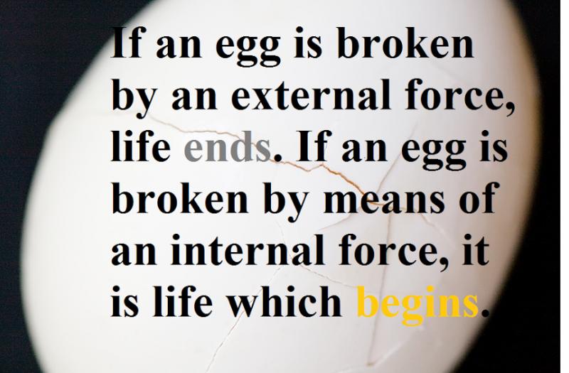 how egg is broken matters