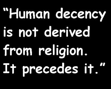 human decency precede religion