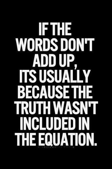 if words dont add up