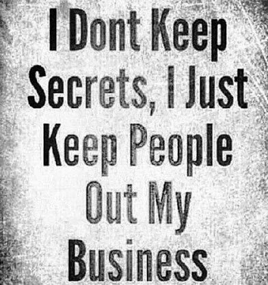 keep people out of my life