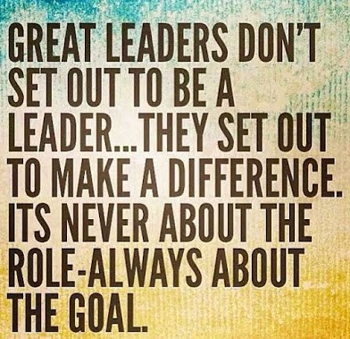 leadership is about goal