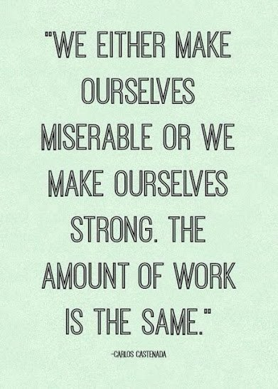 make yourself happy or miserable