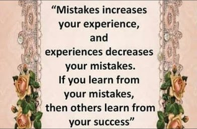 mistakes and experience