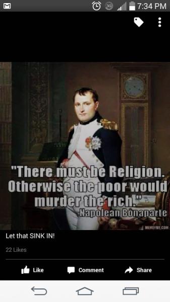 napoleon on religion