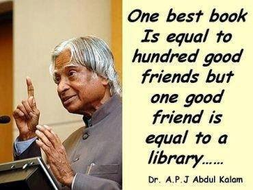 one good friend is equal to a library