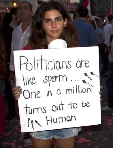 politicians are like sperm