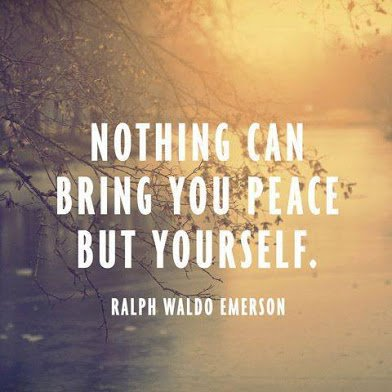 ralph emerson on peace of mind