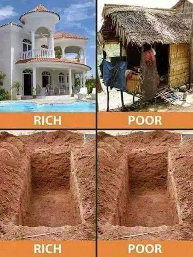 rich and poor same grave2