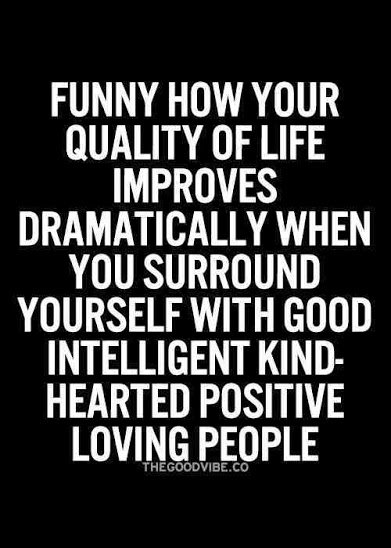 surround urself with positive people