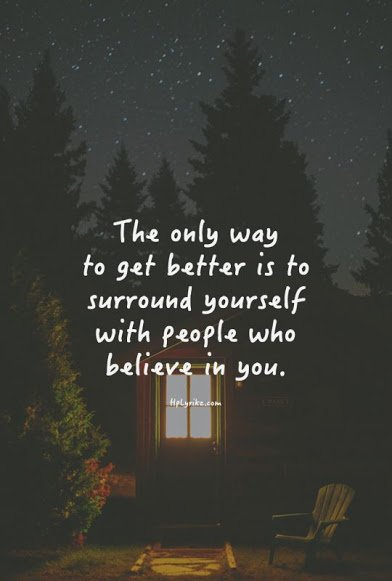 surround yourself with better people